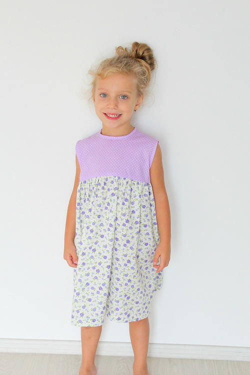 Easy Girls Gathered Dress Pattern | AllFreeSewing.com