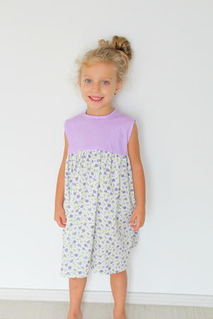 Easy Girls Gathered Dress Pattern