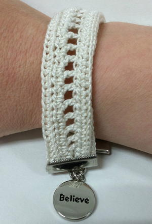 Inspired Charms Crochet Bracelet