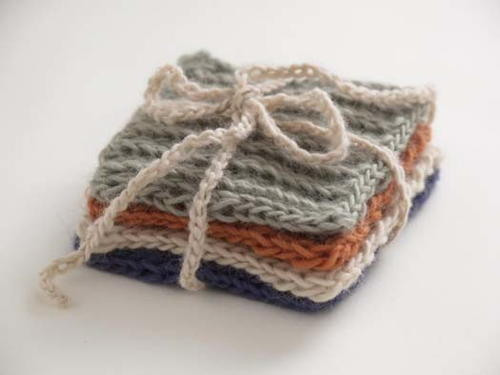 Set Of Four Knitted Coasters Favecrafts
