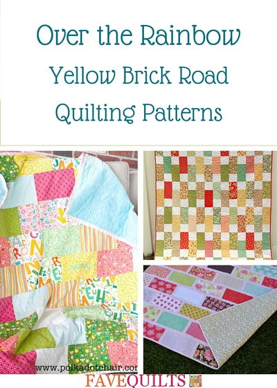 Over The Rainbow 9 Yellow Brick Road Quilting Patterns Favequilts