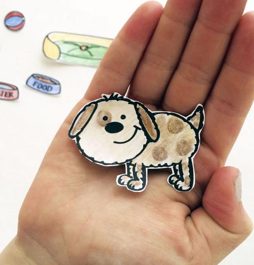 paper doll template for a paper pup allfreepapercrafts com