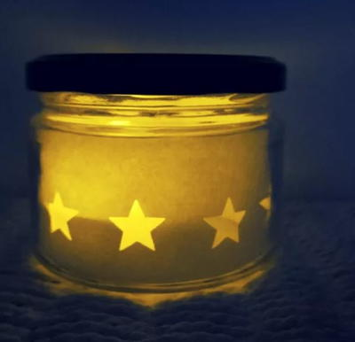 Star Mason Jar Craft