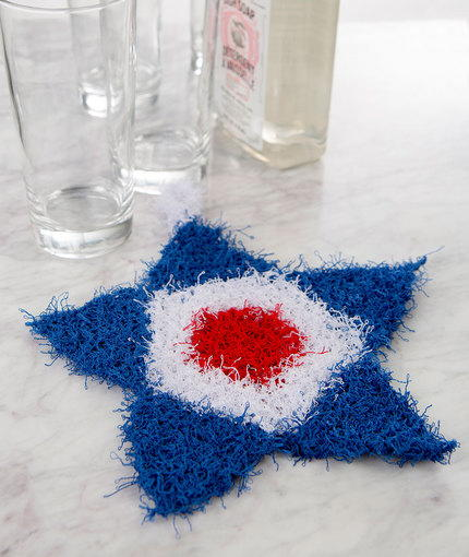 Patriotic Knit Scrubby