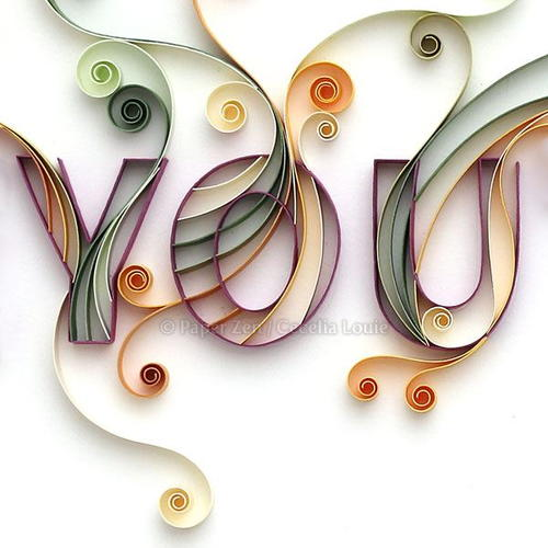 How To Quill Paper Quilling a Word