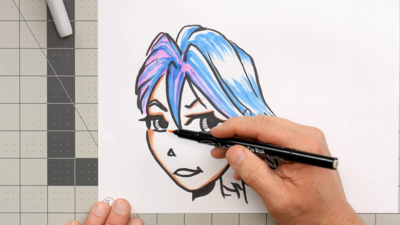 Cartoon Drawing with Marvy Uchida Markers