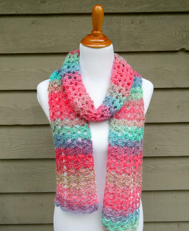 Island Lace Crochet Scarf | AllFreeCrochet.com