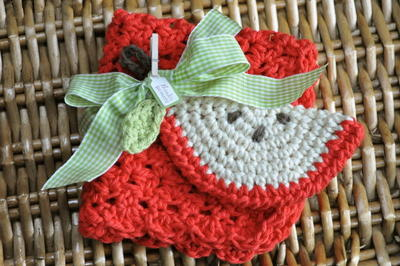Back to School Crochet Dishcloth