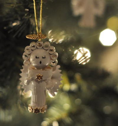 pasta angel homemade christmas ornament - Handcrafted Christmas Ornaments