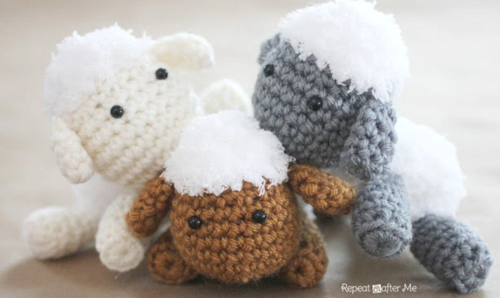 Free Amigurumi Lamb : Lamb baby mobile free crochet pattern allfreecrochet