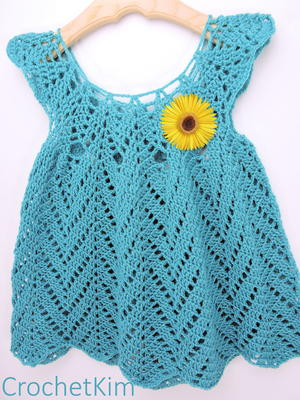 Tulip Chevrons Crochet Baby Dress