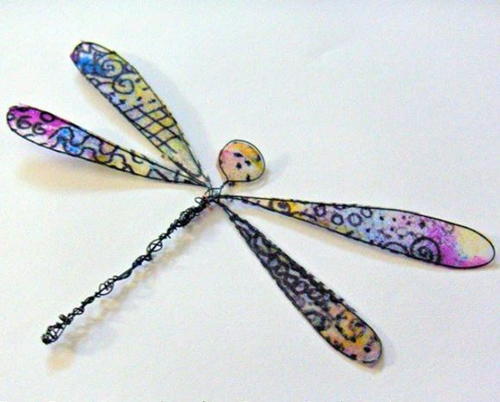 Tissue Paper Dragonfly