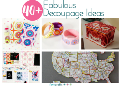 40 Fabulous Decoupage Ideas