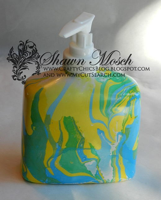 Tie Dye Inspired Soap Dispenser