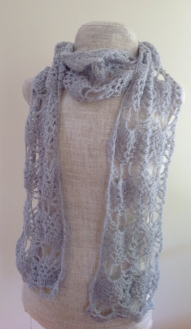 Silver Lace Crochet Scarf Pattern Allfreecrochet Com