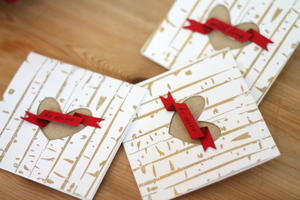 Gold Embossed Birch Cards