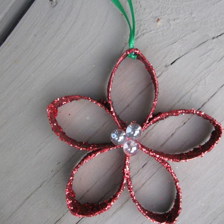 Toilet paper roll flower ornament allfreechristmascrafts mightylinksfo