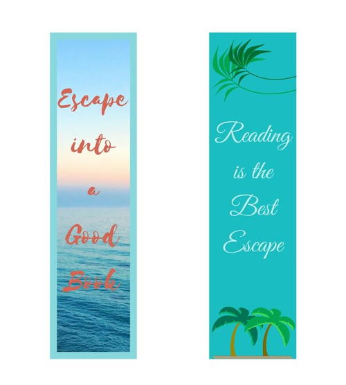 Escape into a Good Book Free Printable Bookmarks
