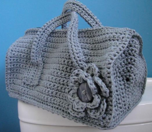 Duffel Purse Crochet Bag Pattern | AllFreeCrochet.com