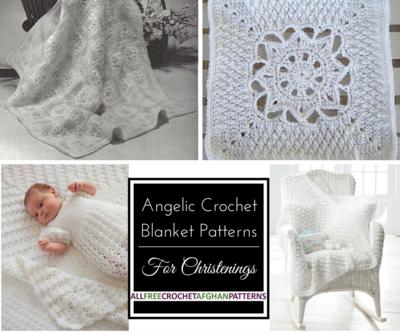 23 Angelic Crochet Blanket Patterns For Christenings