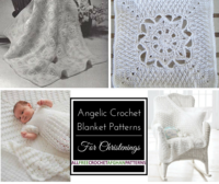 23 Angelic Crochet Blanket Patterns for Christenings