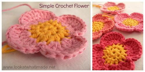 Four Petal Crochet Flower Pattern Allfreecrochet