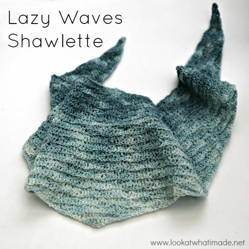 Lazy Waves Shawlette AllFreeCrochet Enchanting Lazy Wave Crochet Pattern