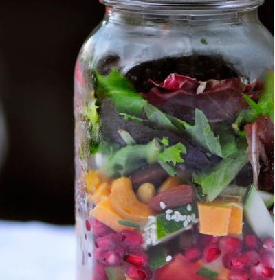 Colorful Berry Salad with Ginger-Dijon Vinaigrette