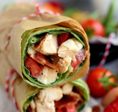 BLT Chicken Caesar Salad Wrap