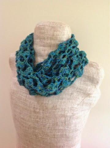 Sparkly Ocean Crochet Infinity Scarf Allfreecrochet