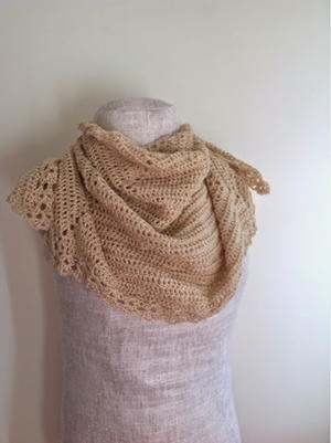 Golden Shimmer Shawl