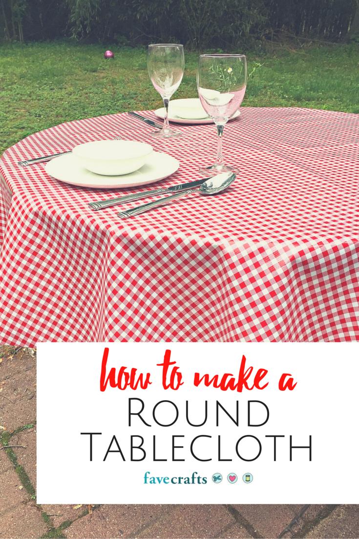 How to Make a Round Tablecloth | FaveCrafts.com