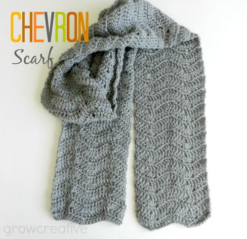 Gray Chevron Easy Crochet Scarf Allfreecrochet