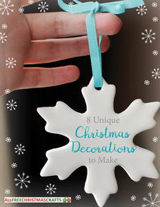 8 Unique Christmas Decorations to Make free eBook