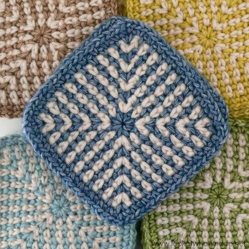 Two Tone Crochet Granny Square Allfreecrochetafghanpatterns