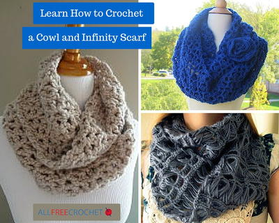 Knitting Scarf Patterns Infinity Scarf : 26 crochet infinity scarf patterns allfreecrochet.com