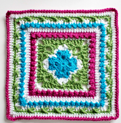 English Garden Inspired Granny Square