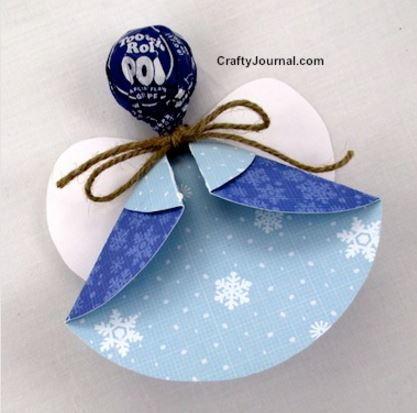 Lollipop Angel Kids Christmas Crafts Allfreechristmascrafts
