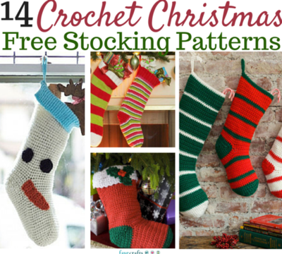 crochet christmas stockings 14 free patterns