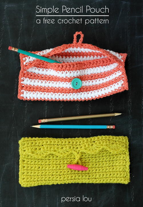 Scalloped Edge Pencil Pouch Allfreecrochet