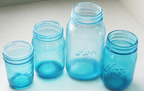 Cool Blue Mason Jar DIY