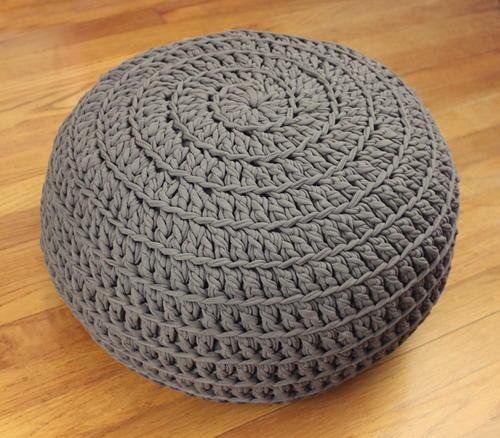 Comfy Crochet Pouf DIY AllFreeCrochet Inspiration Knitted Pouf Instructions