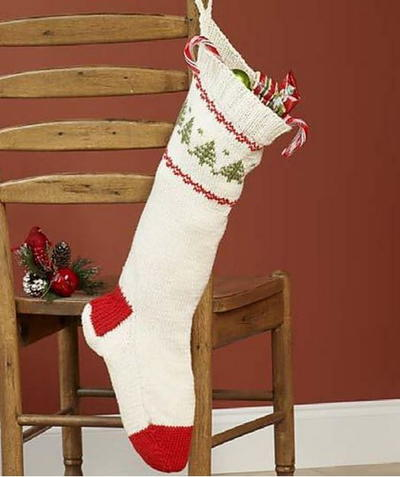 Knit Stocking for Christmas | AllFreeChristmasCrafts.com