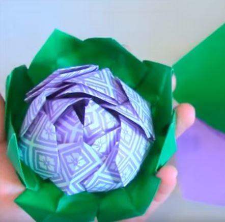 Origami lotus flower allfreepapercrafts origami lotus flower mightylinksfo