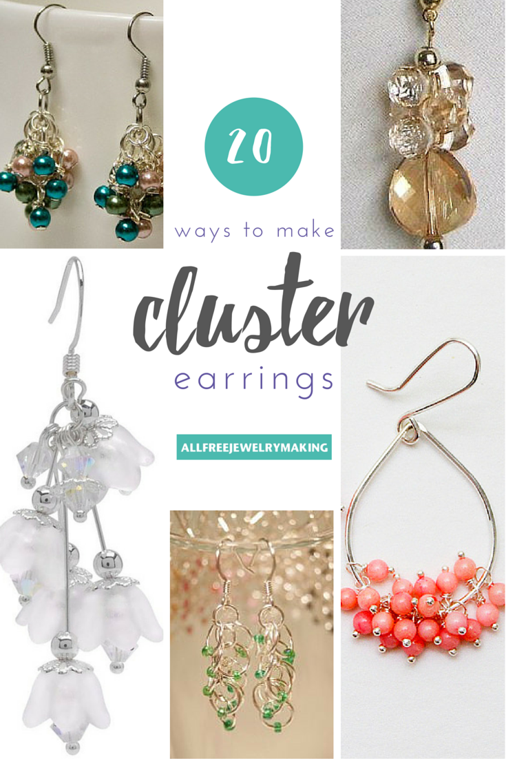How to Make Cluster Bead Earrings: 20 Ways | AllFreeJewelryMaking.com