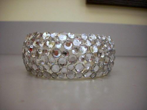 Sparkling rhinestone cuff bracelet allfreejewelrymaking sparkling rhinestone cuff bracelet solutioingenieria Choice Image