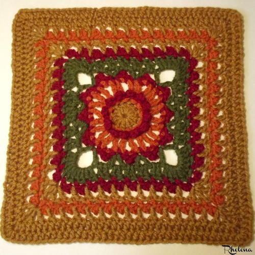Picot Flower Crochet Granny Square Allfreecrochetafghanpatterns