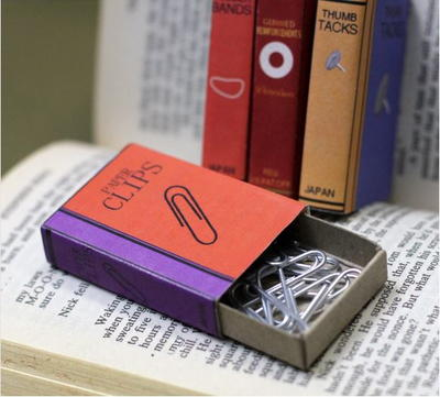 Matchbox Book Covers for Office Supplies