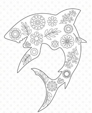 Is Jaws A Little Too Much For You Celebrate Shark Week In With Some Aesthetic Beauty The Form Of These Coloring Pages