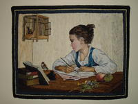 Young Girl Writing